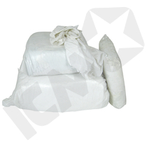 Hvide allroundklude, 25 kg