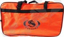 Orange taske til overlevelsesdragt