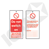 "LOTO Skilt ""Do Not Switch On"""