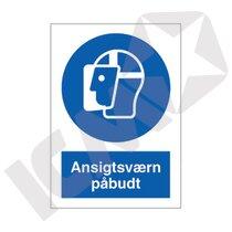 P216 V Ansigtsværn påbudt A5