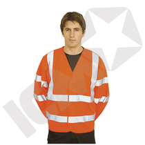 Trafikjakke m/ærmer EN 20471 kl. 3, orange