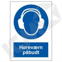 P204PA4 Høreværn påbudt  A4