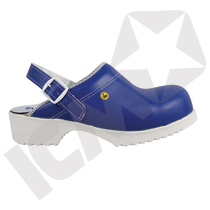 BlueStar SafetyStep 150 tøffel m/fast hælrem blå