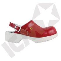 BlueStar SafetyStep 150 tøffel m/fast hælrem rød