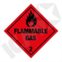 132295 Flammable Gas kl. 2 fareseddel  250x250mm