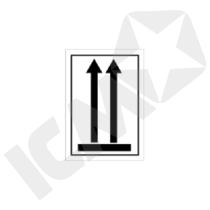 132391 Arrow up etiket  105x74mm
