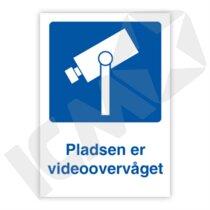 401601PA4 Pladsen er videoovervåget  A4
