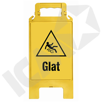 Foldbar Gulvstander Glat Gul/Sort