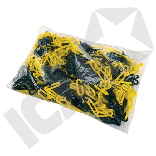 Afspærringskæde gul/sort
