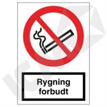 F106VA4 Rygning forbudt  A4